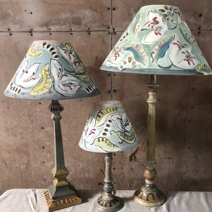 Peas and Leaves Bloomsbury Style Lampshade